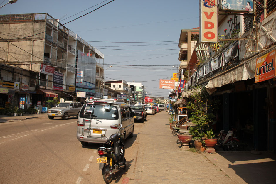 One of the streets of Vientiane